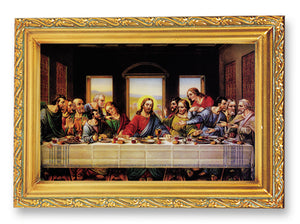 "4.5""X6.5"" FRAMED LAST SUPPER - 461-372 - Catholic Book & Gift Store"