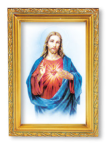 "4.5""X6.5"" FRAMED SACRED HEART OF JESUS - 461.101 - Catholic Book & Gift Store"