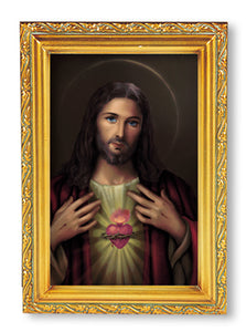 "4.5""X6.5"" FRAMED SACRED HEART OF JESUS - 461.115 - Catholic Book & Gift Store"