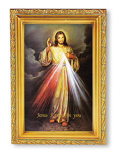 "4.5""X6.5"" FRAMED DIVINE MERCY - 461.123 - Catholic Book & Gift Store"