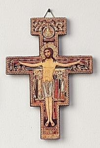 "5.5"" SAN DAMIANO CRUCIFIX - 46710 - Catholic Book & Gift Store"