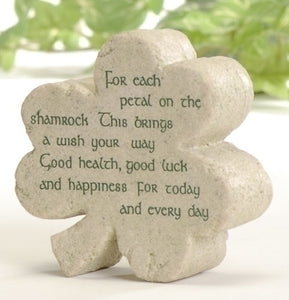 "3"" SHAMROCK SHAPED DESK PLAQUE - 47266 - Catholic Book & Gift Store"