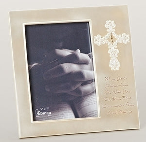 "8.5""H COMMUNION FRAME 5X7"" PHOTO - 47801"