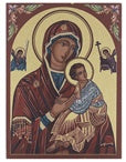 OUR LADY OF PASSION SMALL GOLD EMBOSSED PLAQUE - 530-241 - Catholic Book & Gift Store