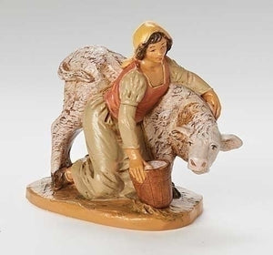 "5"" JULIA GIRL WITH CALF FIGURE - 54059 - Catholic Book & Gift Store"