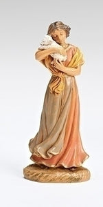"5"" MAIA LADY WITH LAMB/FONTANINI FIGURE - 54073 - Catholic Book & Gift Store"