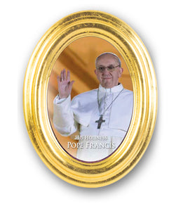 "5.5"" X 7"" OVAL FRAMED POPE FRANCIS - 557-574 - Catholic Book & Gift Store"