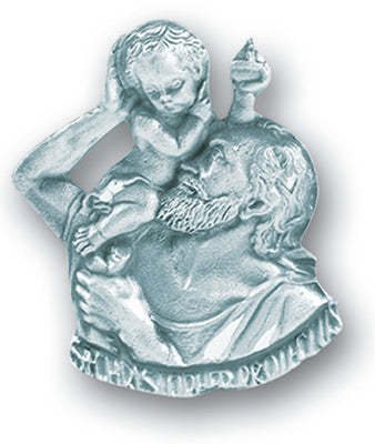 ST CHRISTOPHER VISOR CLIP - 5620 - Catholic Book & Gift Store