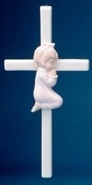 VALENCIA - BABY GIRL CROSS - 57029G - Catholic Book & Gift Store