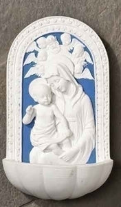 "6"" MADONNA & CHILD/HOLY WATER FONT - 60374 - Catholic Book & Gift Store"