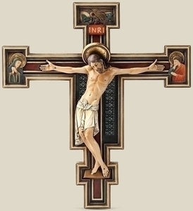 "10.25"" FLORENTINE CRUCIFIX - 60446 - Catholic Book & Gift Store"