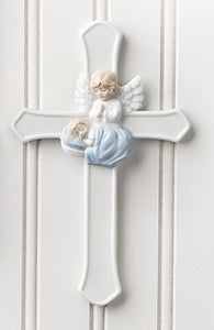 "7"" GUARDIAN ANGEL CROSS/BOY - 60897 - Catholic Book & Gift Store"