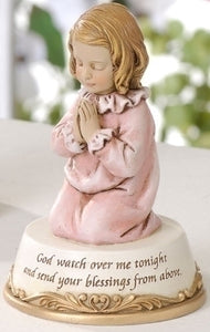"4.5"" PRAYING GIRL FIGURE ""GOD - 62199 - Catholic Book & Gift Store"