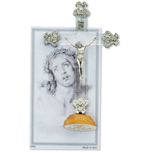 "3.5"" STANDING FANCY CRUCIFIX - 63-02 - Catholic Book & Gift Store"