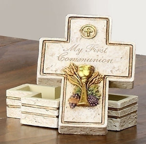 "3.5"" COMMUNION ROSARY BOX-STONE LOOK - 63107 - Catholic Book & Gift Store"