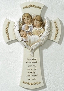 "7"" WALL CROSS/HUSH-A-BYE BABY - 63152 - Catholic Book & Gift Store"