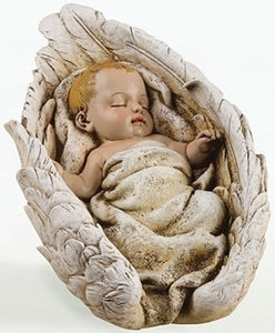 "5""H X 8.25""L BABY IN WINGS TABLETOP FIGURE - 63644 - Catholic Book & Gift Store"