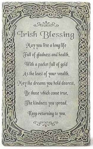 "8"" IRISH BLESSING WALL PLAQUE - 64074"
