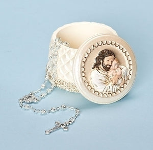 "2""H JESUS W/ BABY KEEPSAKE BOX - 65945 - Catholic Book & Gift Store"