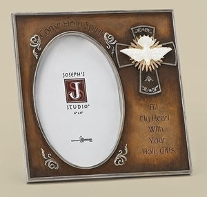 "7"" DOVE CONFIRMATION FRAME - 65951 - Catholic Book & Gift Store"