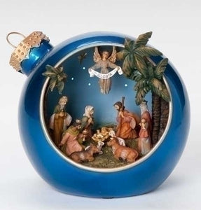"6"" LIGHTED NATIVITY MUSICAL BALL - 66019 - Catholic Book & Gift Store"