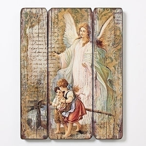 "15""H GUARDIAN ANGEL MDF PLAQUE - 66470 - Catholic Book & Gift Store"