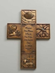 "8.5"" MULTI-SACRAMENT WALL CROSS - 66963"
