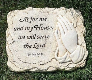 "10""H ME & MY HOUSE GARDEN STONE - 68023 - Catholic Book & Gift Store"