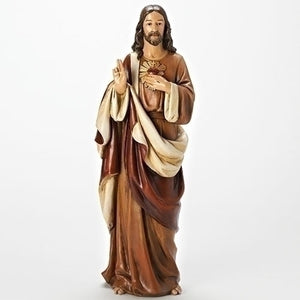 "18""H SACRED HEART OF JESUS FIGURE - 68308 - Catholic Book & Gift Store"