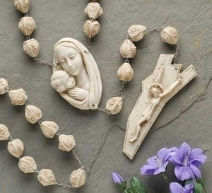 "65""ALABASTERITE WALL ROSARY - 6 - Catholic Book & Gift Store"