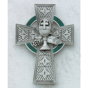 "4 3/4"" PEWTER CELTIC COMMUNION CROSS - 75-33 - Catholic Book & Gift Store"