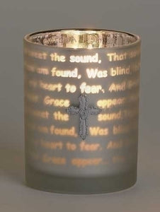 "3.75"" AMAZING GRACE TEALIGHT - 75717 - Catholic Book & Gift Store"