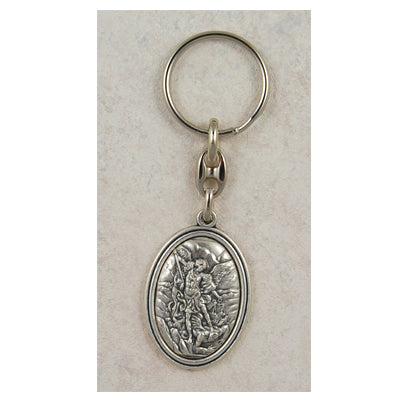 PEWTER/ST MICHAEL KEYRING - 760-62 - Catholic Book & Gift Store