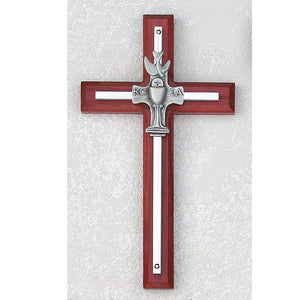 "7"" CHERRY WOOD RCIA CROSS - 77-17 - Catholic Book & Gift Store"