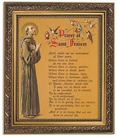 "13"" ST FRANCIS PEACE PRAYER - 79-134 - Catholic Book & Gift Store"