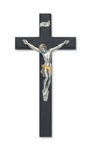 "10"" BEVELED BLACK WOOD CRUCIFIX - 79-28 - Catholic Book & Gift Store"