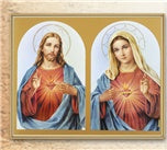 8X10 SACRED HEARTS PLAQUE - 810-191