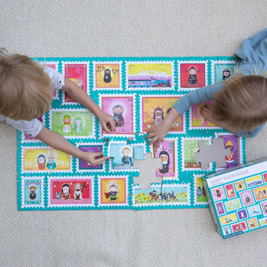 SAINT STAMPS GIANT FLOOR PUZZLE (SHINING LIGHT DOLLS)