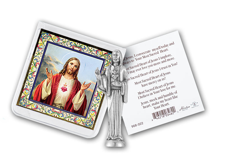 SACRED HEART OF JESUS PRAYER W/STATUE - 891-101 - Catholic Book & Gift Store