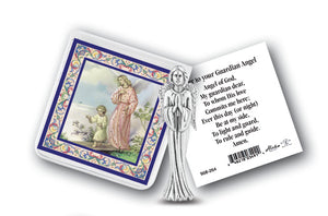 GUARDIAN ANGEL PRAYER W/STATUE - 891-350 - Catholic Book & Gift Store