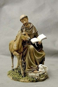 "8.5"" SEATED ST. FRANCIS W/HORSE - 90850"