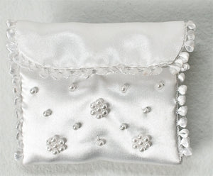 "2.5"" BEADED COMMUNION ROSARY POUCH - 91161 - Catholic Book & Gift Store"
