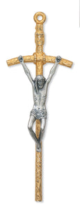 "5 1/2"" TUTONE PAPAL CRUCIFIX - 94-02 - Catholic Book & Gift Store"