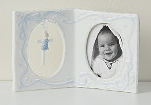 "4"" BABY BOY FRAME W/CROSS - 94208 - Catholic Book & Gift Store"