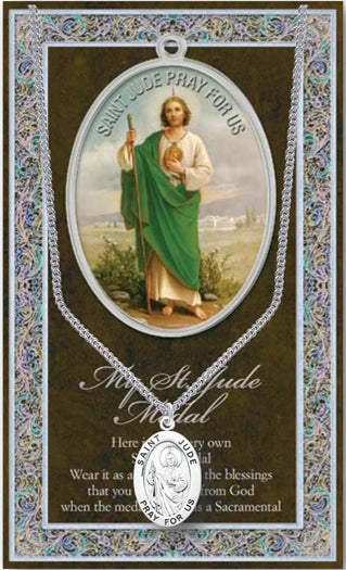ST JUDE MEDAL W/ CARD - 950-320 - Catholic Book & Gift Store