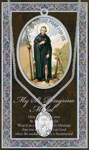 ST PEREGRINE MEDAL W/ CARD - 950-514 - Catholic Book & Gift Store