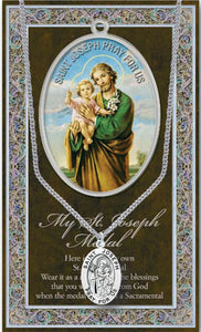 ST. JOSEPH MEDAL AND CHAIN - 950-632 - Catholic Book & Gift Store