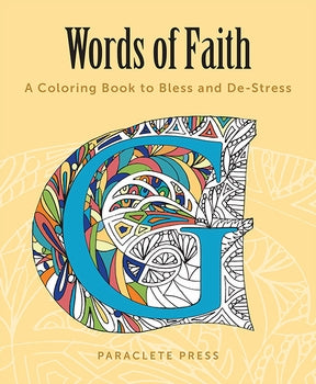 WORDS OF FAITH: A COLORING BOOK - 9781612617671 - Catholic Book & Gift Store
