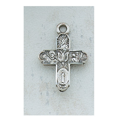ANTIQUE SILVER 4-WAY PENDANT - AN2210SW - Catholic Book & Gift Store