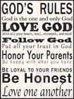 GOD'S RULES WALL PLAQUE - ART0100 - Catholic Book & Gift Store